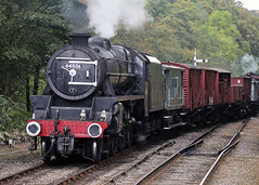 44806 LMS Stanier Class 5MT 4-6-0 (Keith B Pics) Tags: northyorkshiremoorsrailway keithbpics nymr goathland endofsteam lms stanier 44806 class5 black5 460 5mt