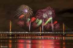 Mersey Gateway Bridge Fireworks 8 (Bob Edwards Photography - Picture Liverpool) Tags: 2017 bridge cheshire crossing gateway halton mersey merseyflow october13th river runcorn transport vehicles widnes