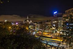 Oslo (morten f) Tags: oslo norge norway city night light 2017 europe trikk trail tram national gate street photography