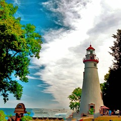 Something Different! (Edale614) Tags: marblehead lighthouse lakeerie lakeside lake lakelife bluesky naturelovers nature waterscape lakescape ohio nikon