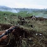 Ben Het 1969 - Soldiers lying on the ground in battle thumbnail