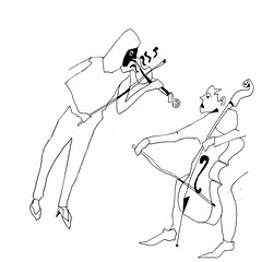 [20170928] (rodneyvdb) Tags: abstracted art blackandwhite bw duet cello concert contemporary drawing ensemble expression expressionism femme figure figurative illustration inkpen model music paper sketch violin