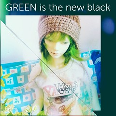 Green (tarengil) Tags: abjd bjd asian dollmore doll zaoll luv zaolluv whiteresin green wig frame