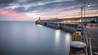 Folkestone Harbour Wall and Lighthouse