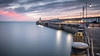 Folkestone Harbour Wall and Lighthouse (Nathan J Hammonds) Tags: folkestone lighthouse harbour wall kent uk britain water sea seascape colour lights sky calm pink sunrise nikon d750 hdr long exposure nd filter 10stop bw smooth