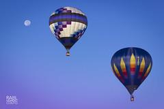 International Balloon Fiesta (Raúl Herreroc) Tags: ballon globo aerostatico fiesta albuquerque nm newmexico nuevomexico us usa unitedstates estadosunidos eeuu canon 550d moon sky cielo luna volar fly