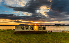 IMAGINE Sunrise Waterscape over the Bay (Merrillie) Tags: daybreak dream water sunrise brisbanewater bay nature dawn reflections tascott light boats background newsouthwales clouds koolewong nsw scene coastal scenery beautiful travel view scenic color sky waterscape australia coast landscape centralcoast