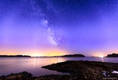 Golfe du Morbihan : Milkyway (Njones03) Tags: 2017 morbihan nicolassavignat seascape milkyway nightscape night landscape star stars sky
