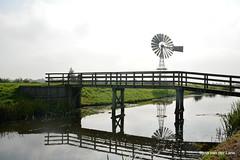 In de polder (Ilona67) Tags: sloot hff brug hek hauwert egboetswater windmolen reflectie natuur buiten herfst