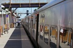 M-7s, Huntington Sta. (en tee gee) Tags: huntington lirr station platform train