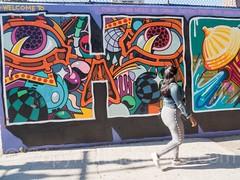 "Detail of ""Welcome to Harlem"" Mural, Graffiti Hall of Fame, East Harlem, New York City (jag9889) Tags: 2017 20171001 bg183 bio detail eastharlem graffiti graffitiartist graffitihalloffame how harlem manhattan mural muralist nosm ny nyc newyork newyorkcity nicer outdoor painting people spanishharlem streetart tagging tatscru themuralkings usa unitedstates unitedstatesofamerica wall welcome woman jag9889 welcometoharlem"