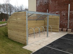 Cycle-racks-Shelter-with-Wooden-Cladding-Image-1