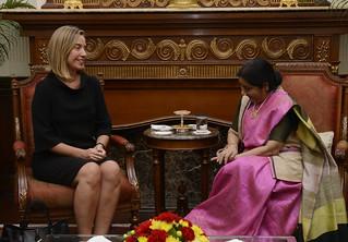 Mogherini's diplomatic trip to India, October 2017