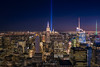 September 11th lights from Top of The Rock, New York, EEUU. (Daniel Viñe fotografia) Tags: 11 new york city september 911 tribute 9 light skyline manhattan night lights world center trade building ny nyc memorial beams usa architecture urban downtown skyscraper blue monument united states