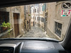 Driving out of Motovun