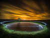 Ring of light (lloydich) Tags: night long exposure brighton sussex dew pond ditchling beacon light painting
