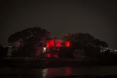 Oleiros contra a pobreza (Sergio Casal) Tags: desigualdadobscena galicia castillo oleiros night exposure red