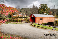 Green River Bridge (Gary/-King) Tags: 2017 greenriverbridge guilford october vermont clouds fall foliage