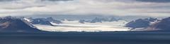 Glacier d'Isjforden (By Sauvage) Tags: glace nature glacier norway norvege longyearbyen spitzbergen svalbard 7d canon panorama ciel mer océan eau paysage montagne baie