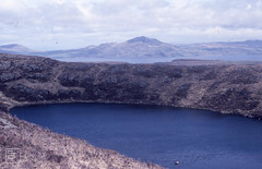 Rim of Mountain lochan above Mishnish and mainland.