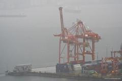 Rainy day In Vancouver (Zorro1968) Tags: vancouver rain city cityofvancouver cityscape downtown explorebc photos604 explorecanada architecture archive portmetrovancouver portofvancouver crane