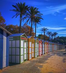 Beach colours...💙💚💛♥️ (carlesbaeza) Tags: colores colors colours beach playa platja catalunya catalonia red blue green yellow
