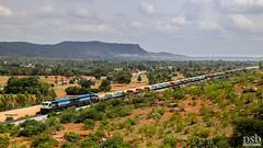 UBL WDG4 Twins | Empty Rake (Pramath S.B) Tags: ublwdg4twins emptyrake freighttrain goodstrain gt46mac southwesternrailwaysindia indianrailways ir train railroad