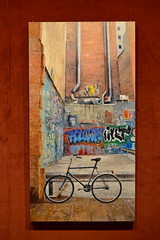 Gallery Exhibit of a City Scene (gerard eder) Tags: world travel reise viajes europa europe españa spain spanien städte street streetlife stadtlandschaft streetart city ciudades cityscape cityview art paintings gallery galerie exhibition exposition exhibits exponate gemälde kunst arte