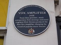 LOUD (doojohn701) Tags: local history shop amplifier white blue music power influence dartford uk mural vox loud jennings denney