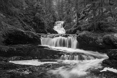 Norwegian nature (steffos1986) Tags: nature landscape norway waterfall cascade longexposure river rock rapids blackandwhite bw forest tree nikond5500 nikkor18105vr noruega norwegen hike explore