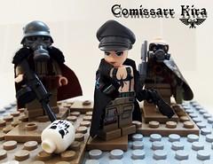 Commissar Kira (G.J.Adams) Tags: warhammer kira chemdogs 40k savlar lego moc diorama military army