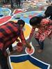 Brush of love (atriray) Tags: iphonephotography alpona artist artistic romance love streetart india westbengal kolkata durgapuja