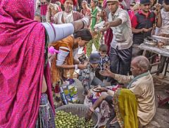 White rabbit (bag_lady) Tags: pilgrims tourists 2016camelfair pushkar rajasthan india shopping buying whiterabbit