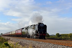 35018: Nearly There.... (Gerald Nicholl) Tags: merchantnavy 35018 britishindialine lunevalley rivers bulleid wcrc york carnforth boltonpercy sr southernrailway steam engine express yorkshire