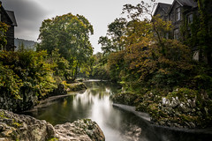 _DSC0093-2259 (SteveKenilworth2014) Tags: betwsycoed betws coed wales snowdonia river long exposure trees bridge stitch panorama reflection reflections fall autumn leaves