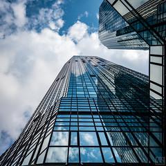 two Towers (MAICN) Tags: glass frankfurt vhs building hochhäuser 2017 architektur himmel spiegelung sky skyscraper glas gebäude wolken clouds
