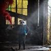 Smoke (interrailing) Tags: menacingpanda mask panda eagle abandoned trailerpark quarry ohio