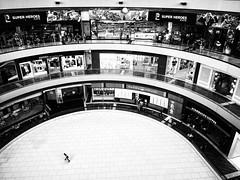 Lone Skater (Wormsmeat) Tags: singapore street streetphotography icerink shops shoppingcentre shoppingmall shopwindow blades contrast highcontrast isolation lonely hobby sport dedication olympus omdem5mk2 mzuiko714f28pro