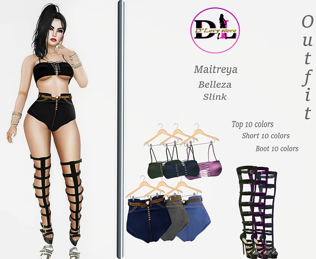 ✷✷✷New Release✷✷✷  Outfit # KATY  ✔ Maitreya ✔ Belleza ✔ Slink  MP: https://marketplace.secondlife.com/p/Outfit-KATY/13064703  LAND: http://maps.secondlife.com/secondlife/Lorena%20Pink/84/94/2501