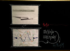 Flows and scores (_foam) Tags: ancestorsrituals blackboard musicalscore notes openingceremony ritualflow writing foam:event=566