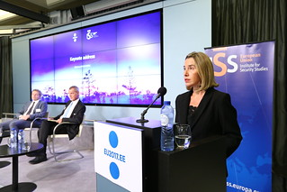 Mogherini participates to a conference at the EU Institute for Security Studies, October 2017