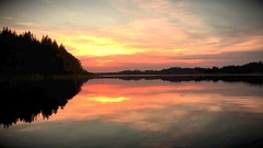 (staceygallagher2) Tags: nature scenic stillphotography stillwater pond ireland reflection pretty colourful red lake sunset