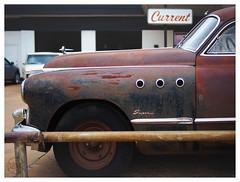 Current (daveelmore) Tags: current sign buicksupereight buick supereight car automobile vehicle coupe rust patina super fender wheel classic antique vintage lumixleicadgsummilux25mm114