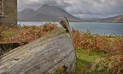 Distant Memories.. (Harleynik Rides Again.) Tags: oldwoodenboat isleofraasay eieanratharsair highlands scotland autumn isleofskye inverarish mountains vista harleynikridesagain nikondf