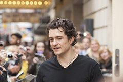 NEW-YORK, USA - OCTOBER 9: Orlando Bloom gives autographs prior to ROMEO AND JULIET performance at Richard Rogers Theater, October 9, 2013, New York, United States (DmitryMorgan) Tags: nj newyork orlandobloom richardrogerstheater usa actor bloom celebrity entertainment event fame famous friendly idol male man model people person popular star talent theus white