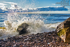 Explore the Shore! (Winglet Photography) Tags: wingletphotography georgewidener stockphoto earth sun wisconsin canon 7d georgerwidener manitoba canada lakewinnipeg heclaisland interlake provincialpark beach wave exploretheshore stone spray
