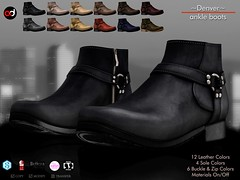 A&D Clothing - Shoes -Denver-  FatPack (HME - Hipster Men's Event - Hipster Men) Tags: hme hipstermensevent secondlife maleevent unisexevent hipster boots maleboots adclothing