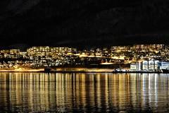 Norway , Tromso at night (katarzynaŚ) Tags: lights night water north norway tromso tromso2016 boat bay scandinavia europe