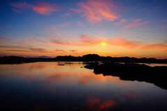 Aquarell maritim (Staufen39) Tags: clouds kyllini aegeansea bluehour sonnenuntergang meer olympiaoasis peleponnes greece sunset sea sky