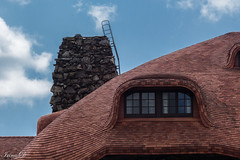 Roof with eyes  HWW (Irina1010) Tags: roof tiles windows sky building asheville grovepark canon